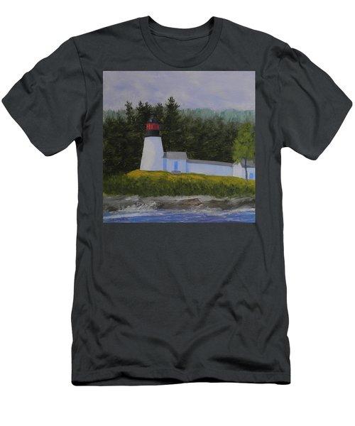 Burnt Island Light Men's T-Shirt (Athletic Fit)