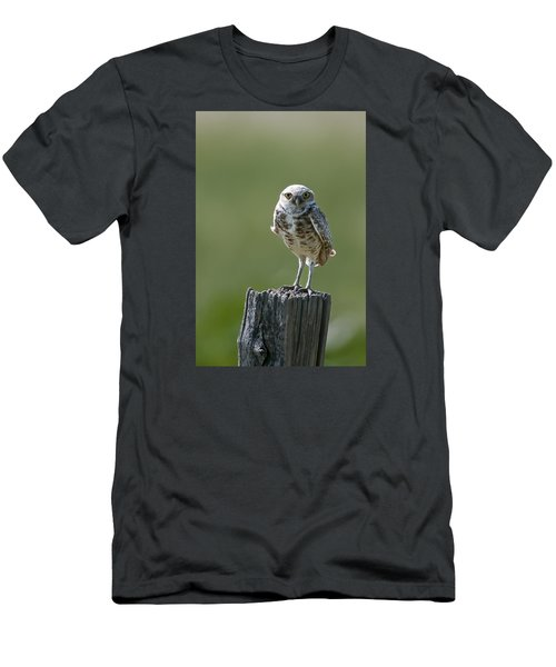 Men's T-Shirt (Slim Fit) featuring the photograph Burrowing Owl by Gary Lengyel