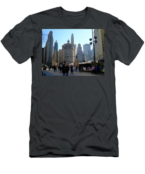 Bus On Miracle Mile  Men's T-Shirt (Athletic Fit)