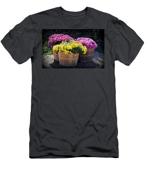 Men's T-Shirt (Athletic Fit) featuring the photograph Bushels Of Fall Flowers by AJ Schibig