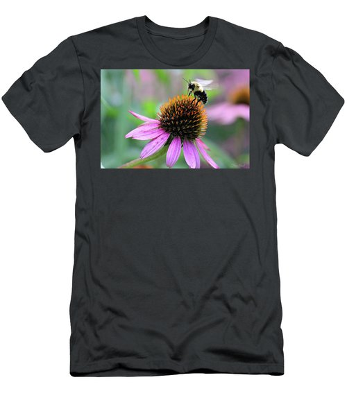 Men's T-Shirt (Athletic Fit) featuring the photograph Busy Bee by Trina Ansel