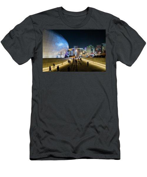 Busy Night Men's T-Shirt (Slim Fit) by Hyuntae Kim