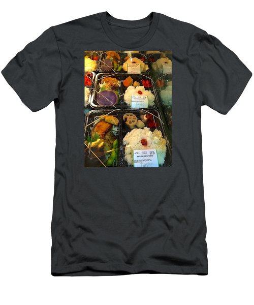 Men's T-Shirt (Slim Fit) featuring the photograph Butterfish Bento Box by Brenda Pressnall