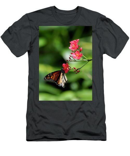 Butterfly And Blossom Men's T-Shirt (Athletic Fit)
