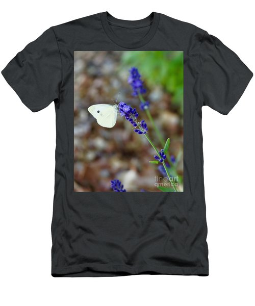 Butterfly And Lavender Men's T-Shirt (Athletic Fit)