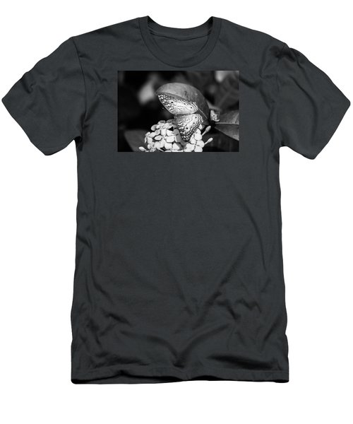 Men's T-Shirt (Slim Fit) featuring the photograph Butterfly Bw - Ins18 by G L Sarti