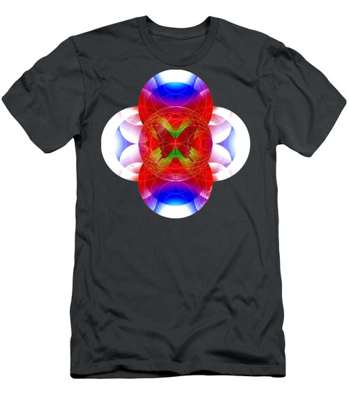 Men's T-Shirt (Slim Fit) featuring the digital art Butterfly Effect by Iowan Stone-Flowers
