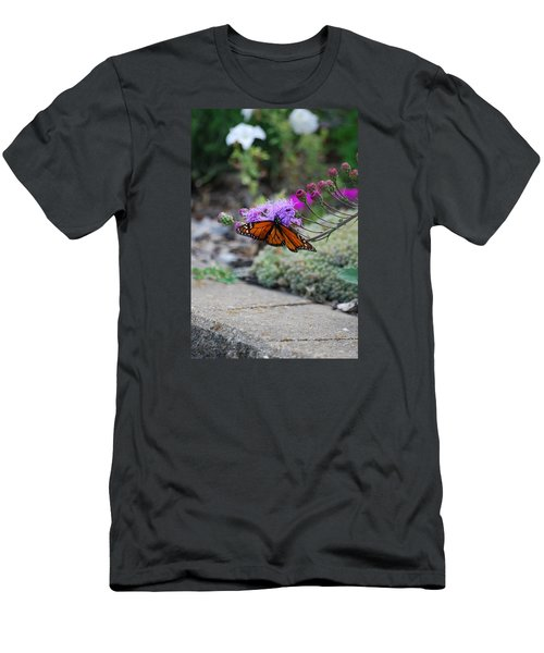 Men's T-Shirt (Slim Fit) featuring the photograph Butterfly Garden by Ramona Whiteaker