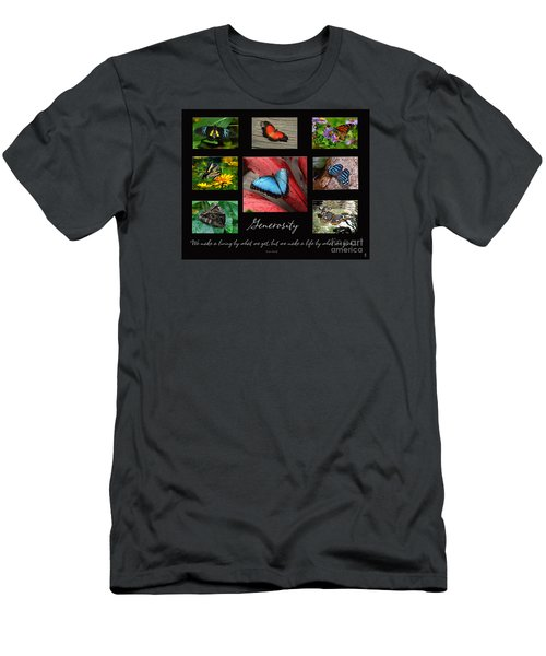 Butterfly Generosity Collage Men's T-Shirt (Slim Fit) by Diane E Berry