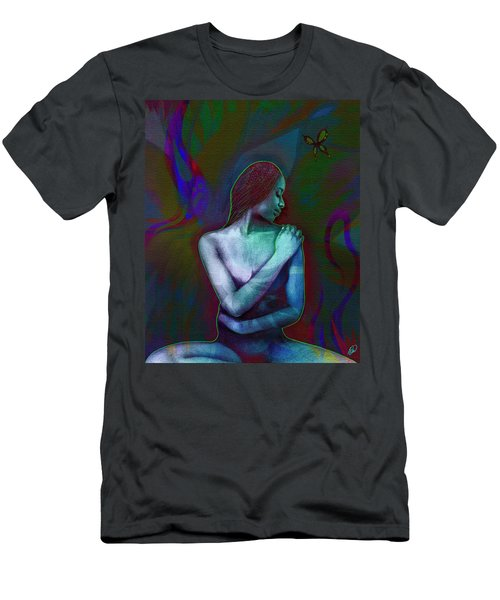 Men's T-Shirt (Slim Fit) featuring the digital art Butterfly Hearts II by AC Williams