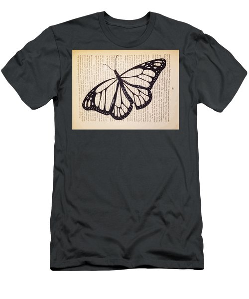 Butterfly In A Book Men's T-Shirt (Athletic Fit)