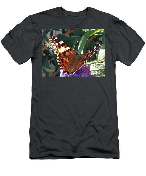 Butterfly Landing Men's T-Shirt (Athletic Fit)