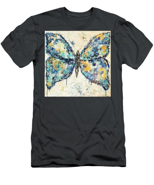 Butterfly Love Men's T-Shirt (Slim Fit) by Kirsten Reed