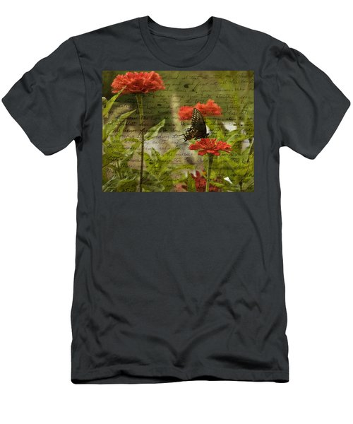 Butterfly Notes Men's T-Shirt (Athletic Fit)
