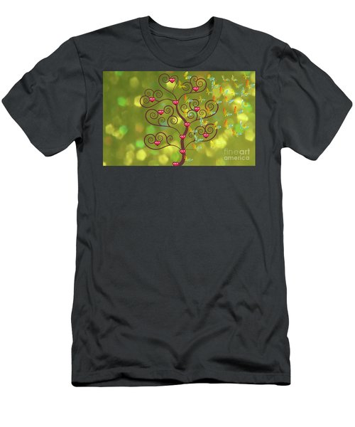 Butterfly Of Heart Tree Men's T-Shirt (Athletic Fit)