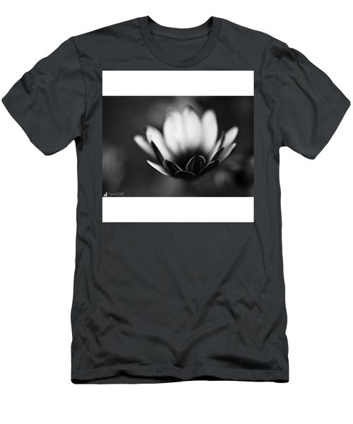 #bw #closeup #petals #someyearsago Men's T-Shirt (Athletic Fit)