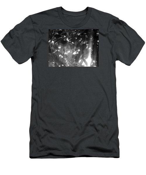 Men's T-Shirt (Slim Fit) featuring the photograph Bw Shadow Threads by Megan Dirsa-DuBois