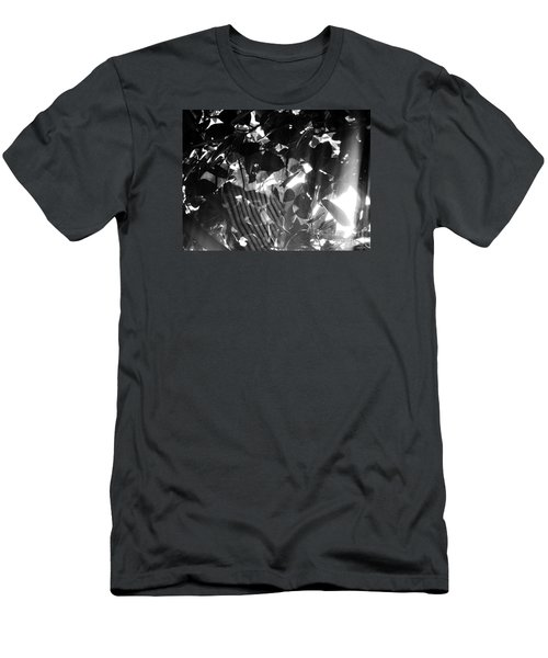 Men's T-Shirt (Slim Fit) featuring the photograph Bw Spider Phenomena by Megan Dirsa-DuBois