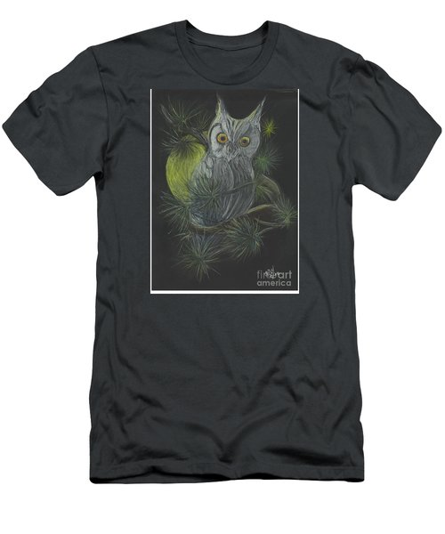 Men's T-Shirt (Slim Fit) featuring the drawing By The Light Of The Moon by Carol Wisniewski