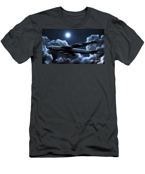 Men's T-Shirt (Slim Fit) featuring the painting By The Light Of The Silvery Moon by Dave Luebbert