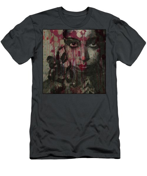 Men's T-Shirt (Slim Fit) featuring the painting Bye Bye Blackbird by Paul Lovering