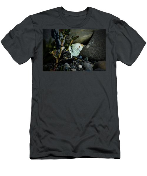 Men's T-Shirt (Athletic Fit) featuring the photograph Cabbage White Butterfly by Tikvah's Hope