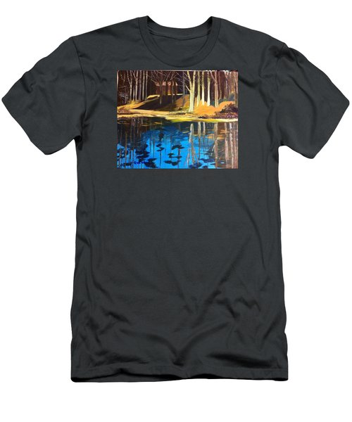 Men's T-Shirt (Athletic Fit) featuring the painting Cabin #2 by Jane Croteau