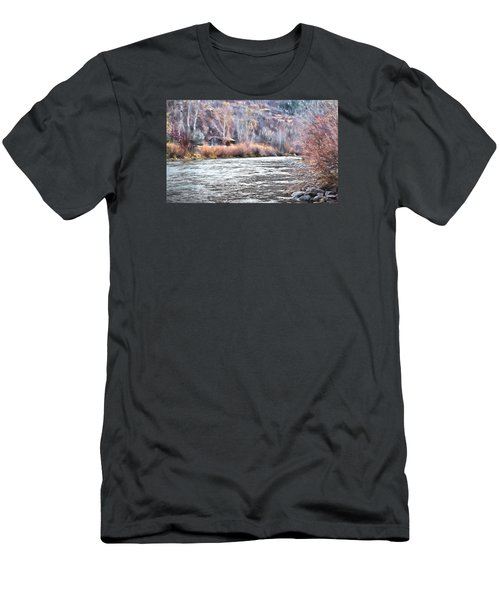 Cabin By The River In Steamboat,co Men's T-Shirt (Slim Fit) by James Steele