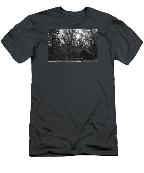 Men's T-Shirt (Slim Fit) featuring the photograph Cabin By The Woods by Dacia Doroff