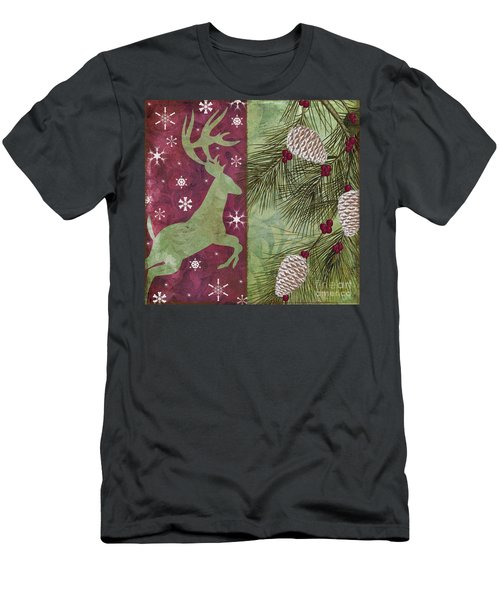 Cabin Christmas II Men's T-Shirt (Athletic Fit)