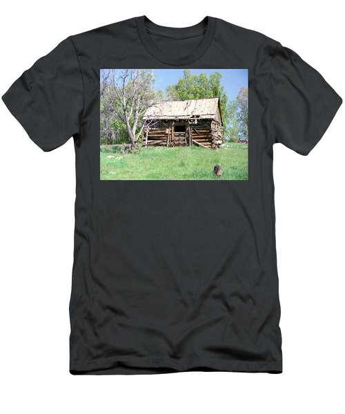 Cabin In The Mountains Men's T-Shirt (Athletic Fit)