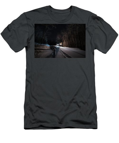 Cabin In The Winter Men's T-Shirt (Athletic Fit)