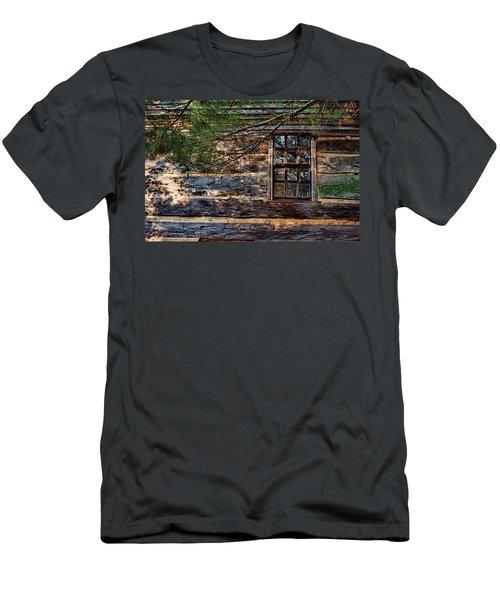 Cabin Window Men's T-Shirt (Slim Fit) by Joanne Coyle
