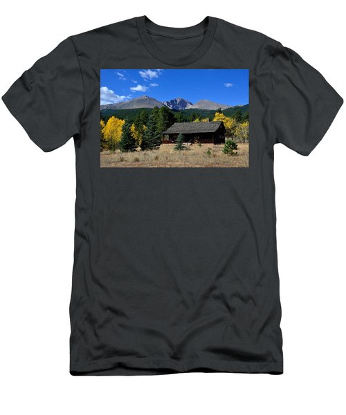 Cabin With A View Of Long's Peak Men's T-Shirt (Athletic Fit)