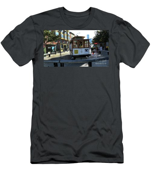 Men's T-Shirt (Slim Fit) featuring the photograph Cable Car Turnaround by Steven Spak