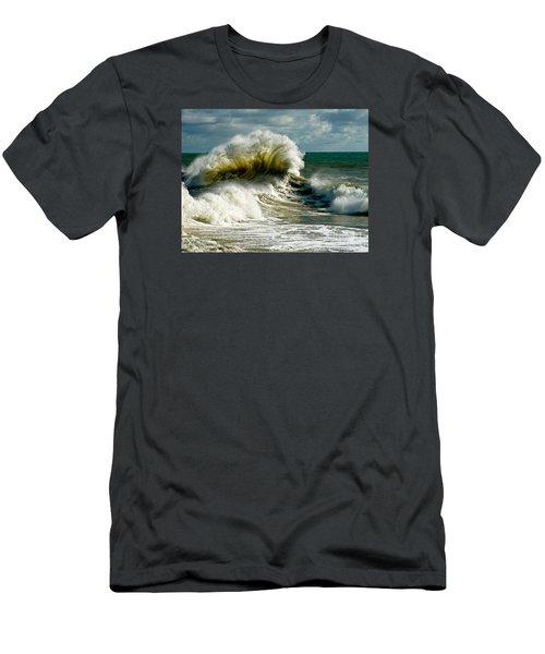 Cabrillo Shorebreak  Men's T-Shirt (Slim Fit) by Michael Cinnamond