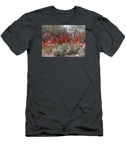 Cactus And Glass Men's T-Shirt (Slim Fit) by Elvira Butler