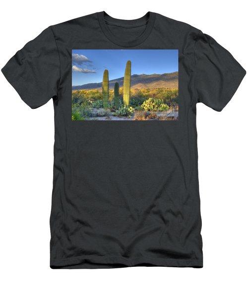 Cactus Desert Landscape Men's T-Shirt (Athletic Fit)