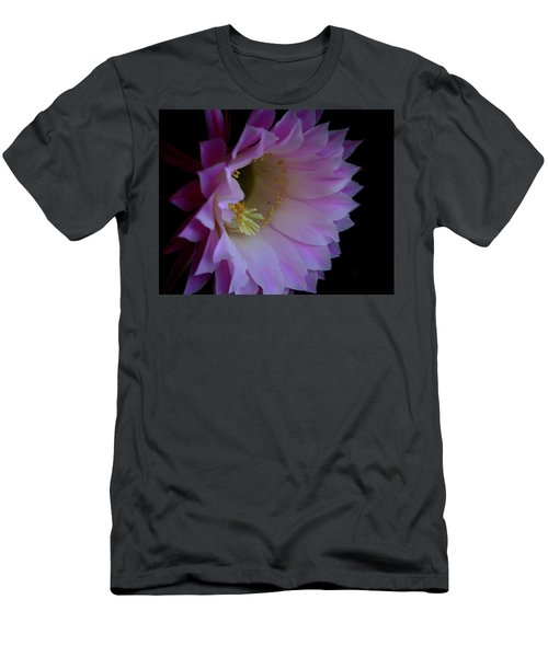 Men's T-Shirt (Slim Fit) featuring the painting Cactus Easter Lily Bright by Marna Edwards Flavell