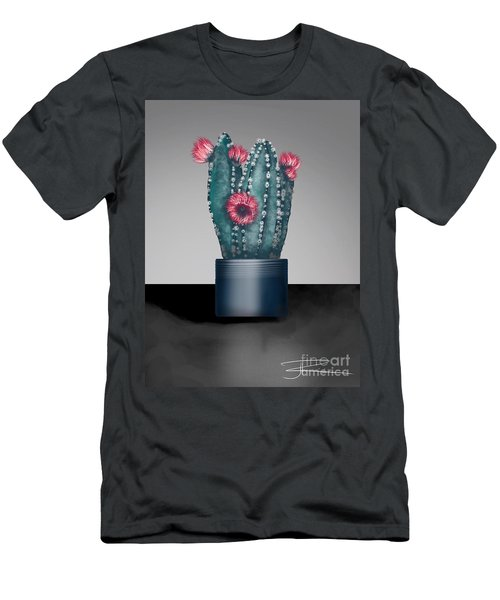 Cactus In Bloom I  Men's T-Shirt (Athletic Fit)