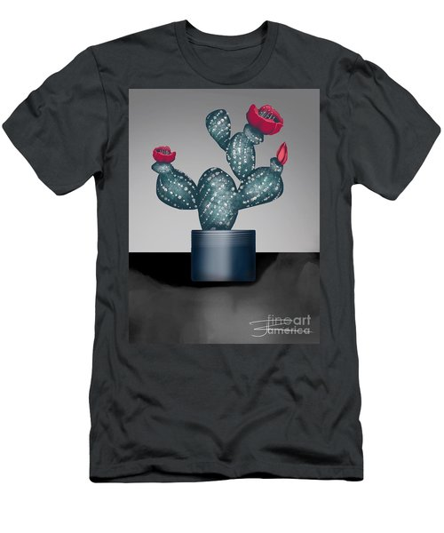 Cactus In Bloom II Men's T-Shirt (Athletic Fit)