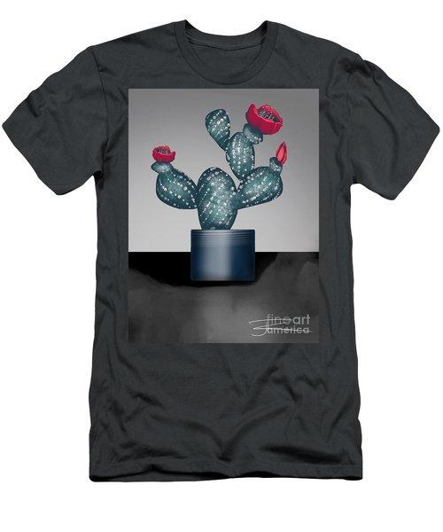 Cactus In Bloom II Men's T-Shirt (Slim Fit)