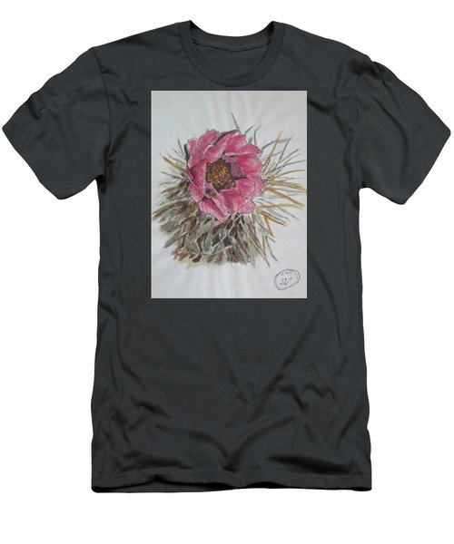 Men's T-Shirt (Slim Fit) featuring the painting Cactus Joy by Sharyn Winters
