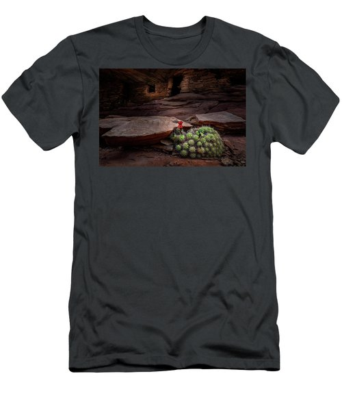 Cactus On Fire Men's T-Shirt (Athletic Fit)
