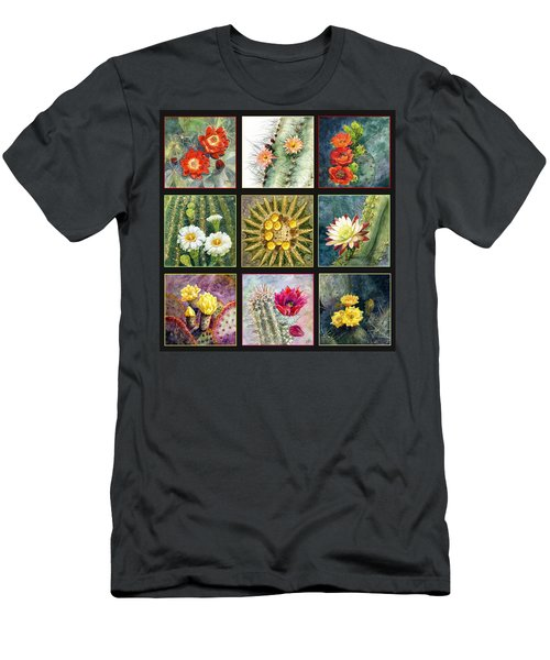 Men's T-Shirt (Slim Fit) featuring the painting Cactus Series by Marilyn Smith