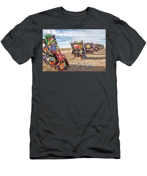 Cadillac Ranch 1 Men's T-Shirt (Athletic Fit)