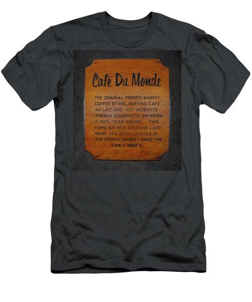 Cafe Du Monde Sign I Men's T-Shirt (Athletic Fit)