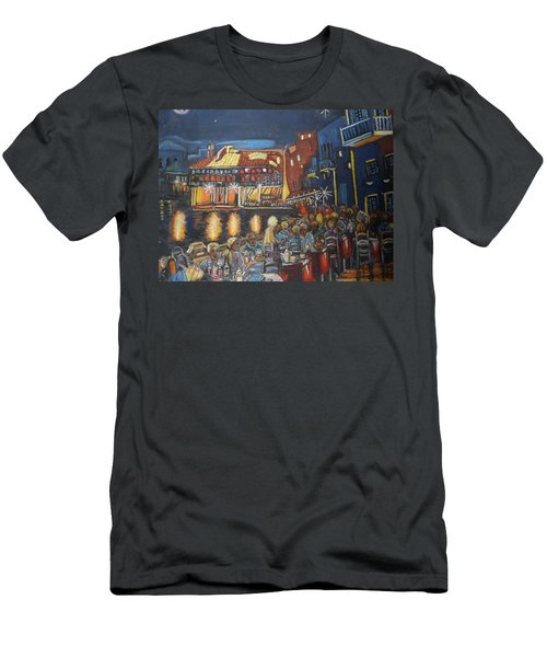 Cafe Scene At Night Men's T-Shirt (Athletic Fit)