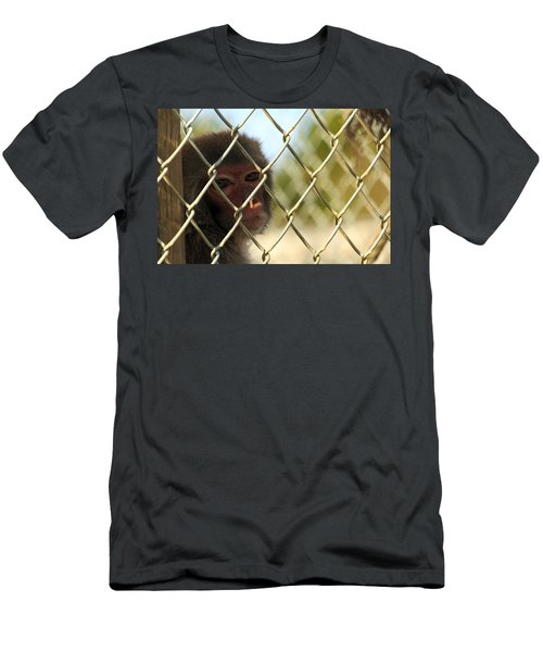 Caged Monkey Men's T-Shirt (Athletic Fit)