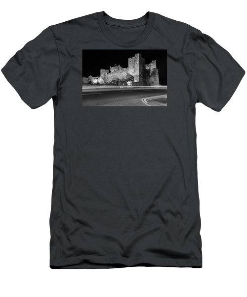 Cahir Castle At Night Men's T-Shirt (Slim Fit) by Martina Fagan